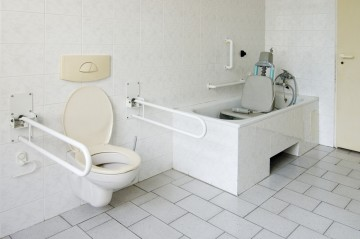 Dementia-friendly bathroom displayed at Care Show