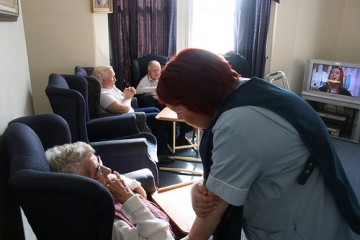 90% of elderly care home patients have dementia