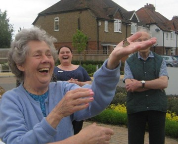 Claremont Court enjoys a butterfly releasing ceremony