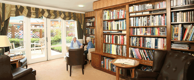 Our well stocked library provides ideal quiet space