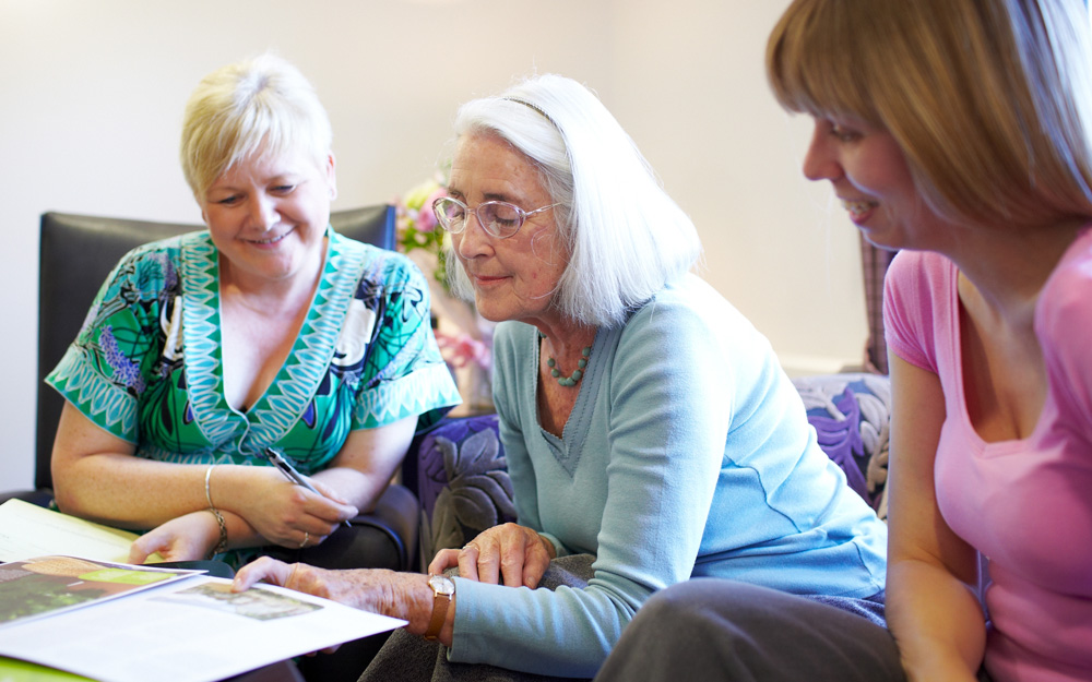 Home Manager, resident & relative discuss a care plan