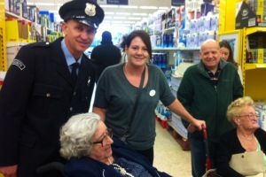 Ashbrook Court residents spot celebrity at local store