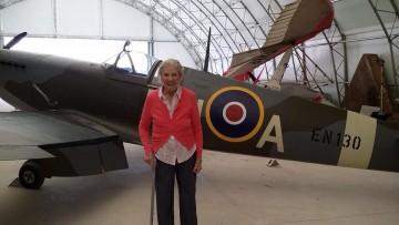 Residents female spitfire pilot gets special visit