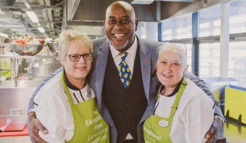 Ainsley Harriott inspires Brooklands chefs