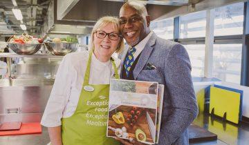 Ainsley Harriott inspires Queen Elizabeth Park chefs