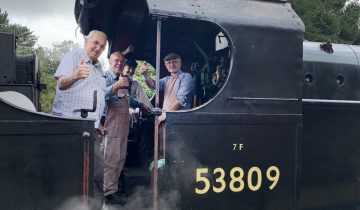 Steam Train Trip Fulfills Wish for Keith